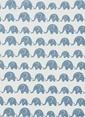 Hibboux Elephants Under The Sky Tek Kişilik Nevresim Takımı Beyaz